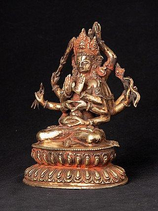 Antique bronze Maha Manjushree statue