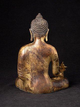 Nepalese bronzen Medicijnboeddha