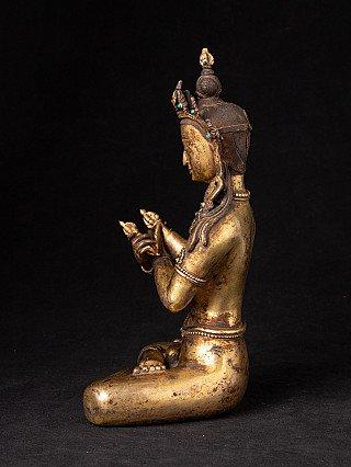 Old bronze Nepali Vajradhara statue