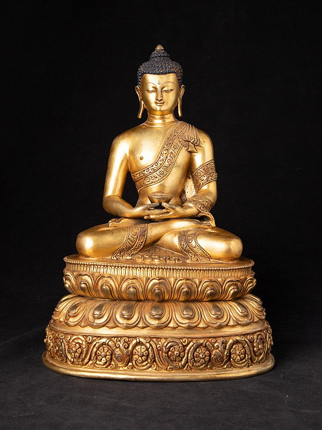 Alte Nepalesische bronze Buddha Figur