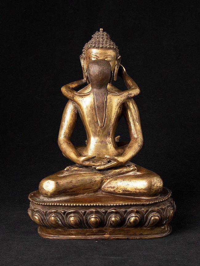 Oud bronzen Samanthabadra beeld