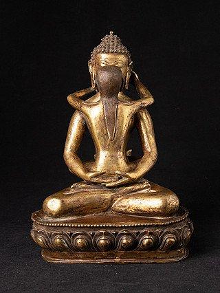 Old bronze Samanthabadra statue