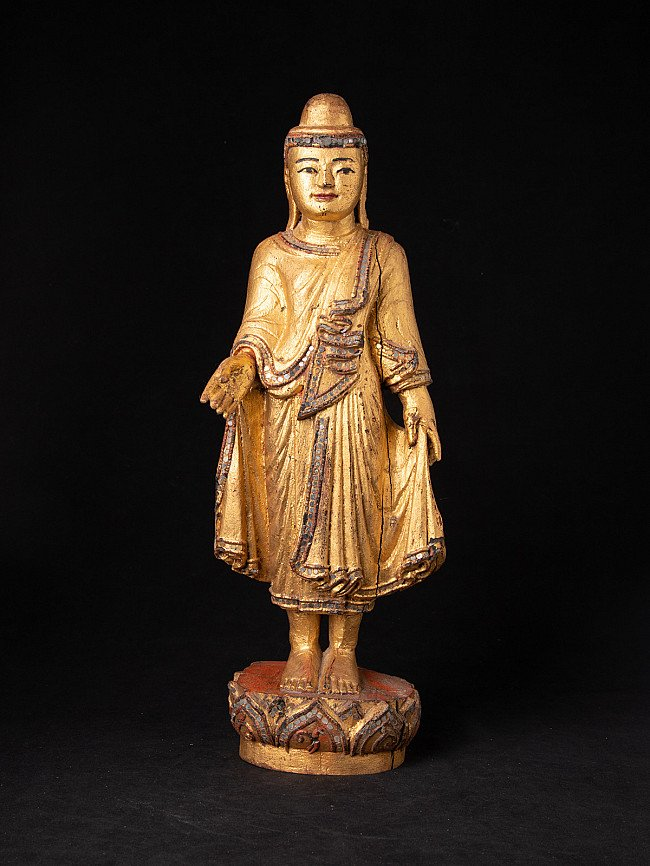 Antique Burmese Mandalay Buddha statue