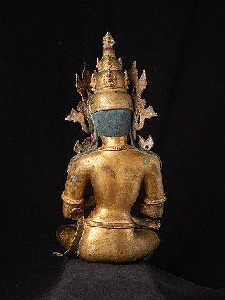 Old bronze Nepali Bodhisattva statue