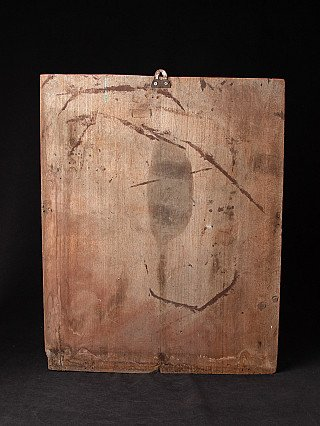 Antique Burmese wooden panel