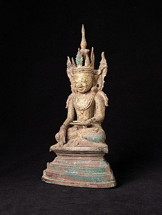 Antique bronze Ava Buddha statue, early Ava period