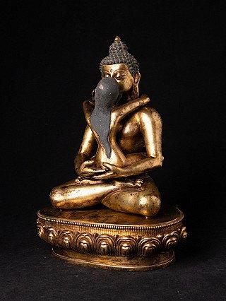 Old gilded Samantabhadra statue