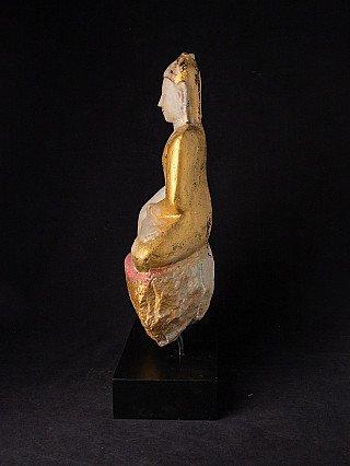 Antiek Birmees Ava Boeddhabeeld