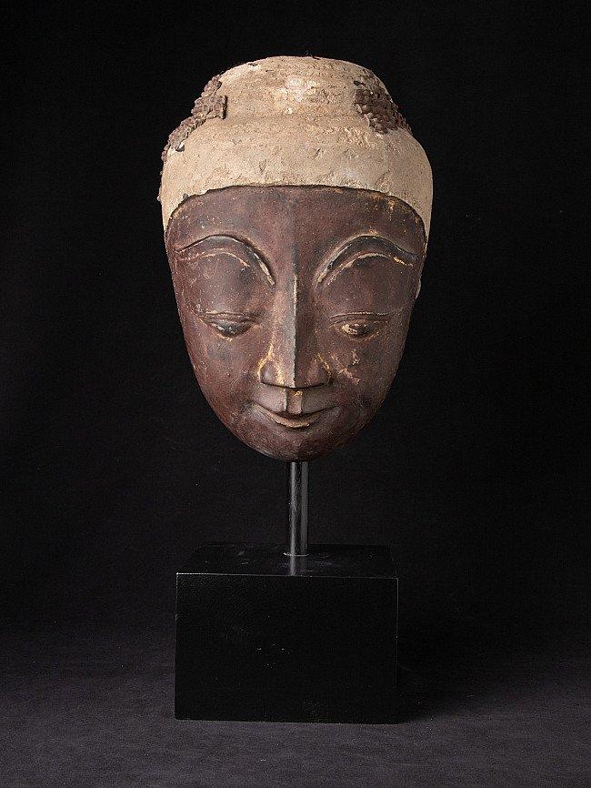 Antique Burmese Stucco Buddha head