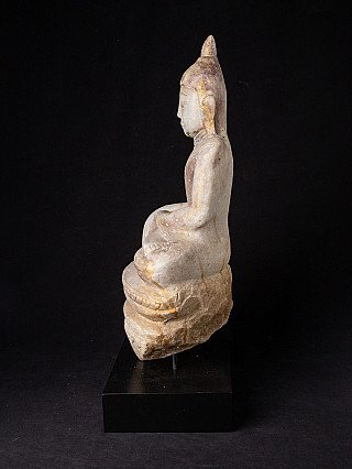 Antique alabaster Buddha statue