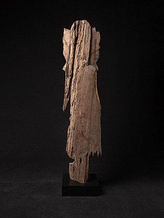 Antique wooden Bagan Buddha statue