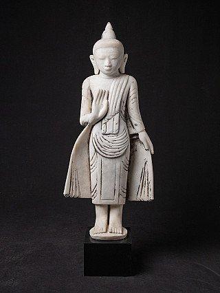 Old marble Burmese Buddha statue