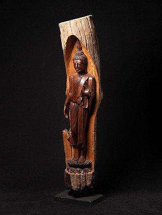 Large teakwooden Buddha statue