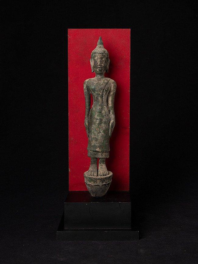 Antique bronze Laos Buddha statue