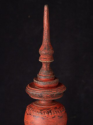 Antique red Burmese offering vessel