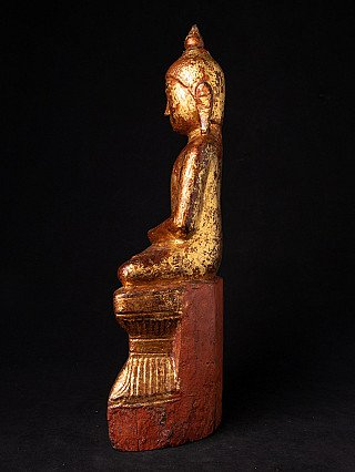 18. Jh. holzerne Shan Buddha Figur
