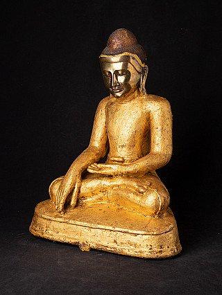 Zeer bijzondere bronzen Arakan Boeddha