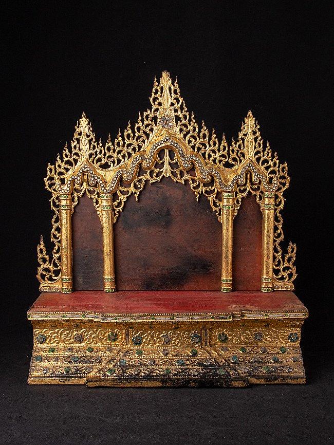 Antique Burmese Buddha throne