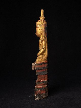 Antique wooden Shan Buddha