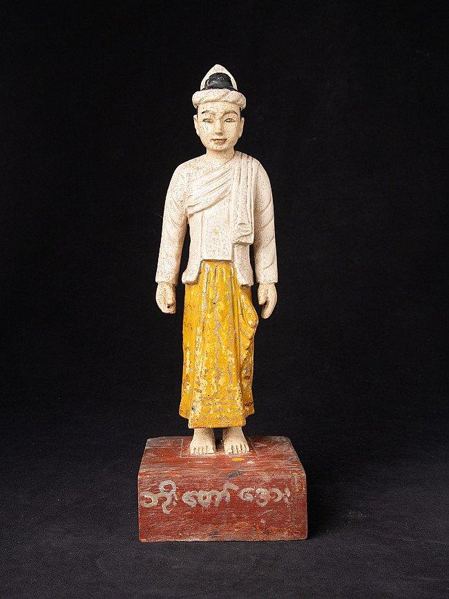 Antique wooden Burmese Nat statue