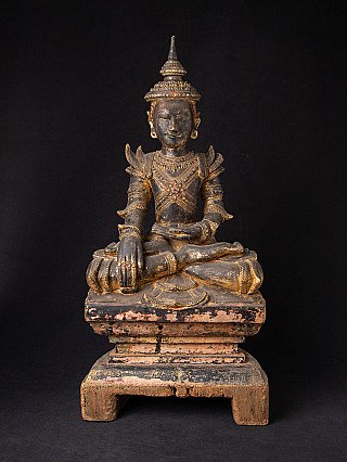 18th century wooden Shan Buddha