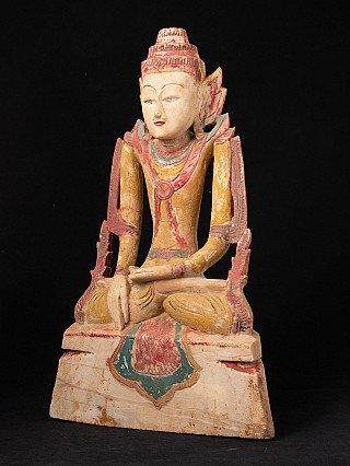 Antique limestone Shan Buddha statue