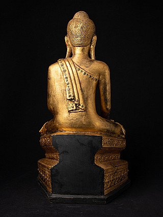 Antike Birmanische Mandalay Buddha Figur