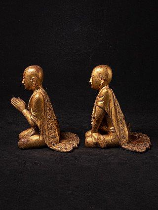 Antieke set monnik beelden