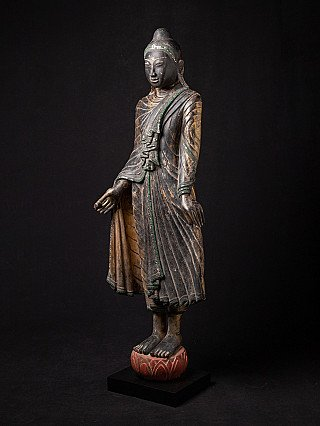 Antique Buddha statue from early Mandalay period