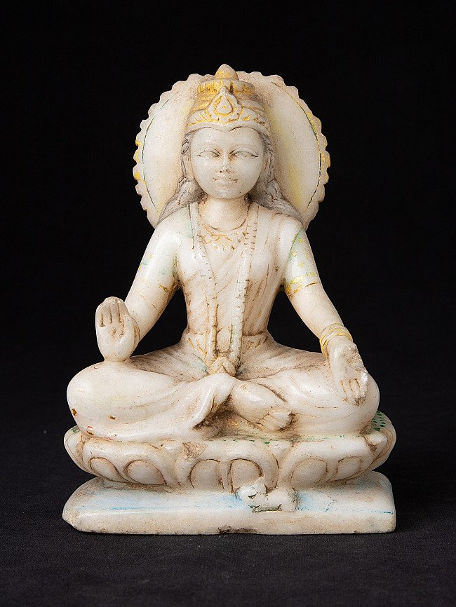 Antique marble Laxmi statue