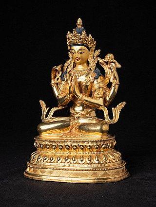 Gilded Nepali Chenrezig statue