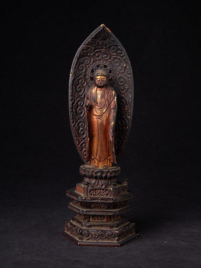 Antique wooden Japanese Buddha