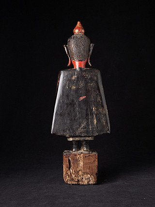 Antieke houten Tai Lue Boeddha