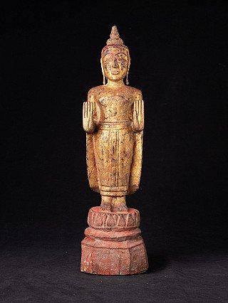 Antieke houten Thaise Boeddha