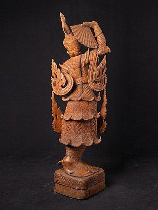 Large teakwooden dancing statue
