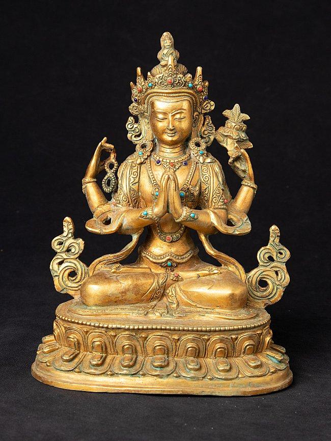 Alte bronze Chenrezig Figur