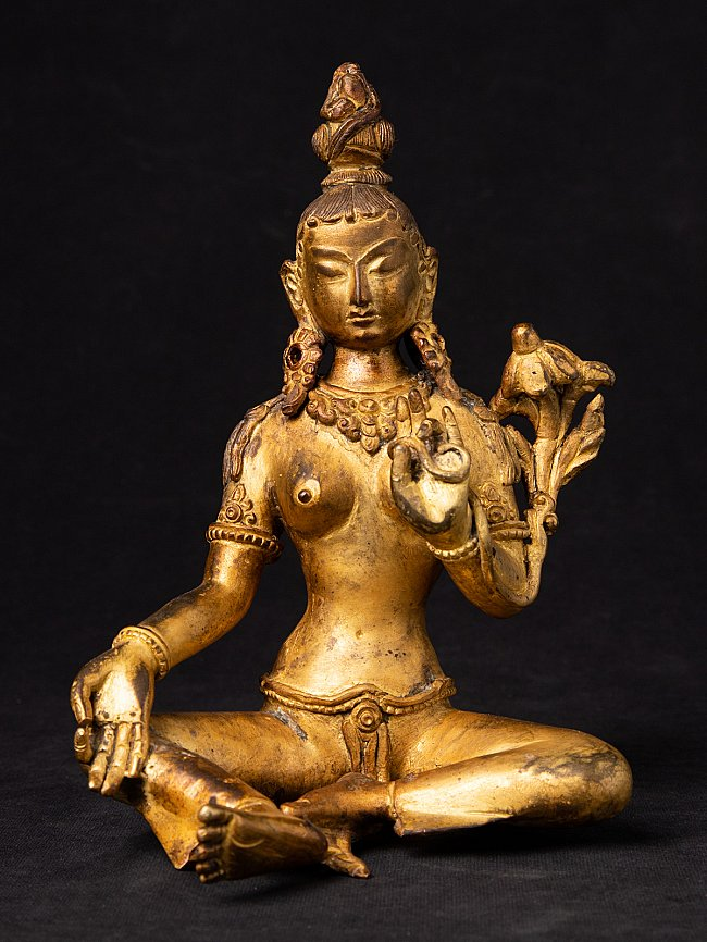Old bronze Green Tara statue