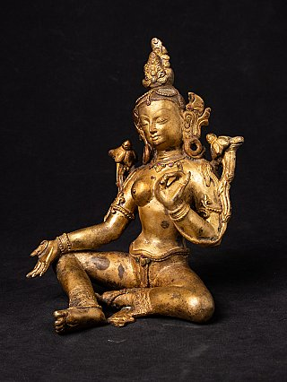 Alte bronze Nepal Tara Figur