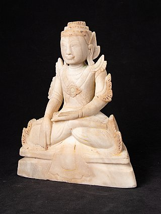 Antique crowned Shan Buddha statue
