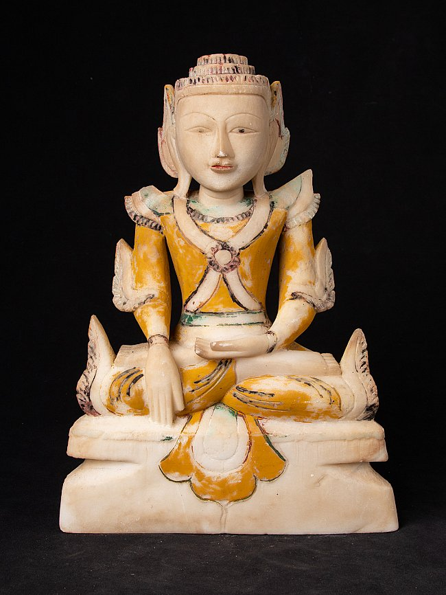 Antique marble Shan Buddha statue