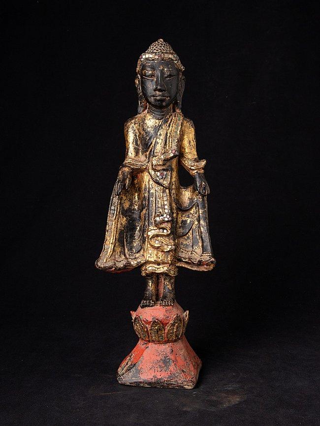 Antike Birmanische Buddha aus Holz