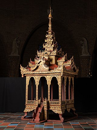 Very special antique wooden temple
