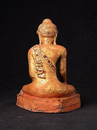 Antike holzerne Mandalay Buddha