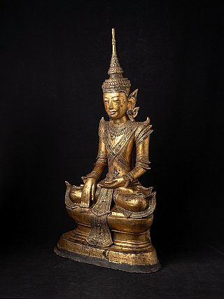 Large antique Shan Buddha statue