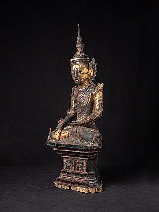 Large antique wooden Shan Buddha