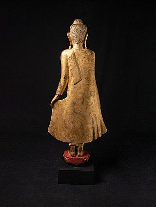 Large antique wooden Mandalay Buddha