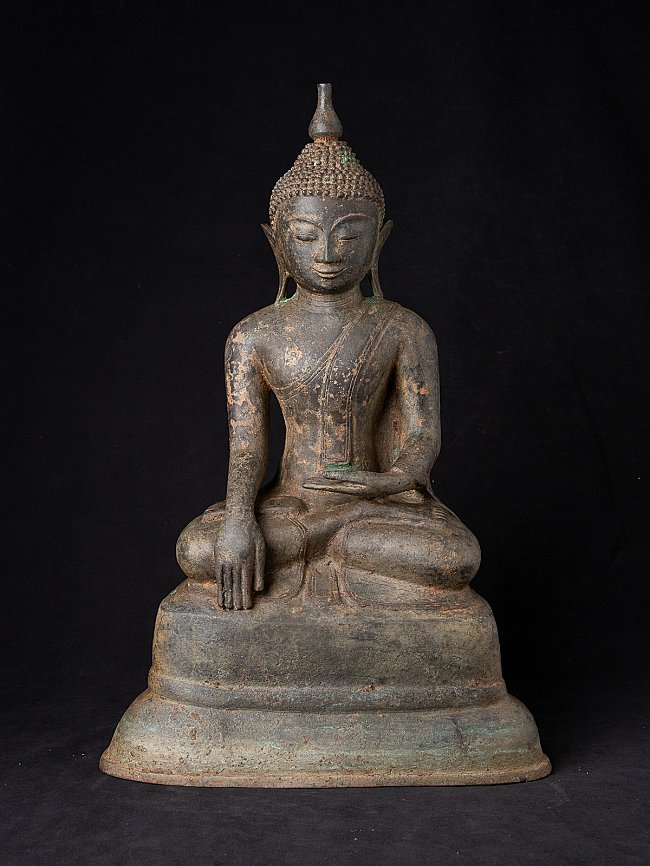 Alte bronze Birma Buddhafigur