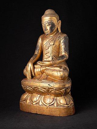 Special Burmese wooden Buddha statue