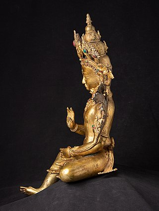 Old bronze Lokeshwar statue