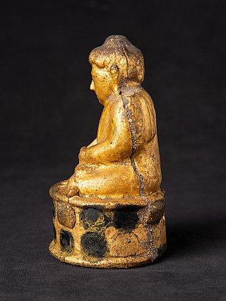 Antique Burmese wooden Shan Buddha statue